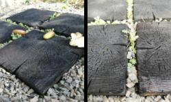 Бесплатная садовая дорожка своими руками: брусчатка из обожженного дерева