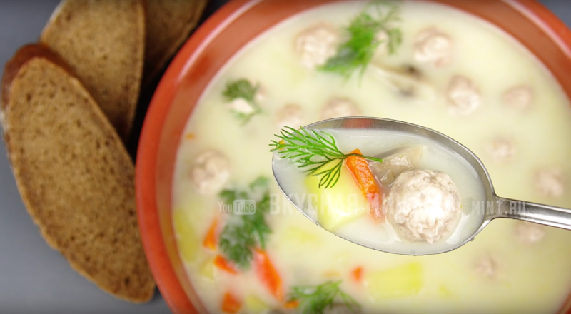 Сырный суп: мой любимый рецепт (муж по два раза за добавкой ходит)